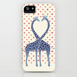 Giraffes in Love - a Valentine's Day illustration iPhone Case