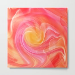 Abstract Orange, Pink and Yellow 1052 Metal Print