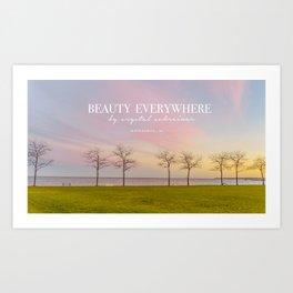 Pink Milwaukee Sky  Art Print