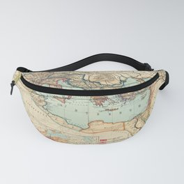 Vintage Map of The Roman Empire (1889) Fanny Pack