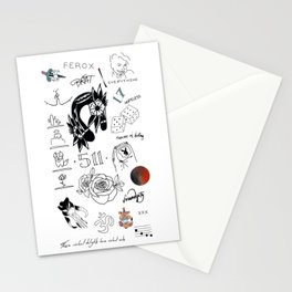 Halsey's Tattoos Stationery Cards