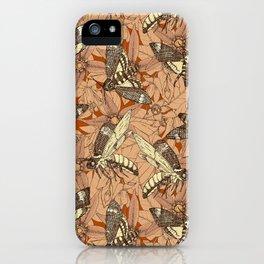 Death's-head hawkmoth rust iPhone Case