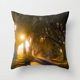 The Dark Hedges (RR192) Throw Pillow