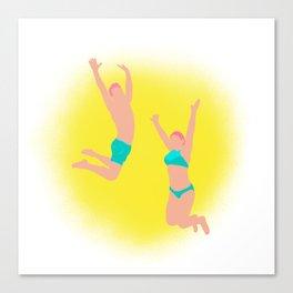 Jump! - Bright Colors Canvas Print