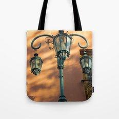 Street Lights of La Boca IV Tote Bag