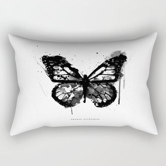 Black Monarch Rectangular Pillow