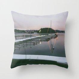 Sunset over Lake Mälaren, Stockholm, Sweden Throw Pillow