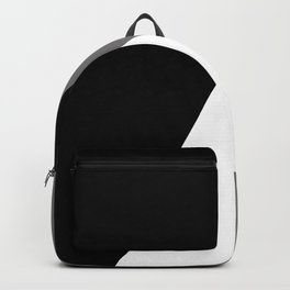 Classic black & white geometric design Backpack