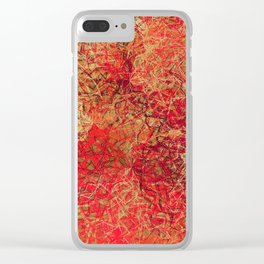 Red Earth Scratches Abstract Clear iPhone Case