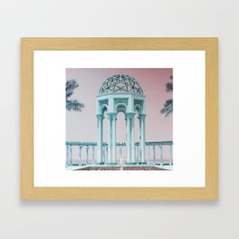 Retro Kuwait Framed Art Print