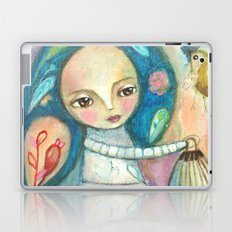 Free to fly - girl and birds Laptop & iPad Skin