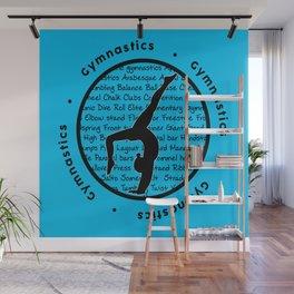 Circle Gymnastics new blue Wall Mural