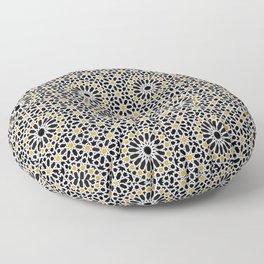 seamless oriental pattern x2 geometric design traditional mosaic style Floor Pillow