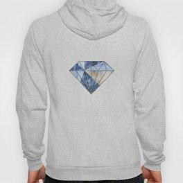 Blue Gold Gemstone Geode Triangles Hoody