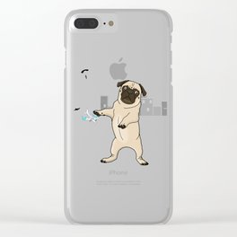 Attack of the Massive Pug!!! Clear iPhone Case