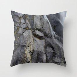 Aber Waterfall mimetolith Throw Pillow