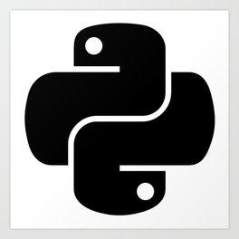 I love Python Art Print