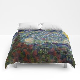 The Gourdy Night Starry Night Parody Comforters