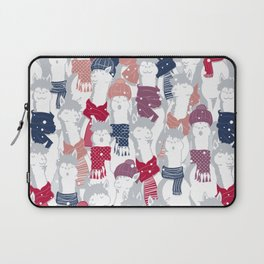 Happy llamas Christmas Choir III Laptop Sleeve