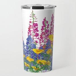 Mountain Wildflowers Travel Mug