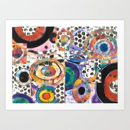 Symphony of Color by Raffa Art Print