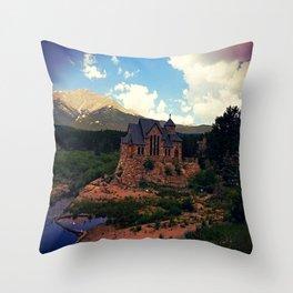 St Malo's Church, Allenspark Throw Pillow