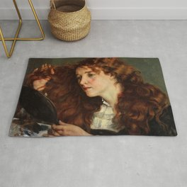 Gustave Courbet - Jo, the Beautiful Irishwoman - Jo, la belle Irlandaise Rug