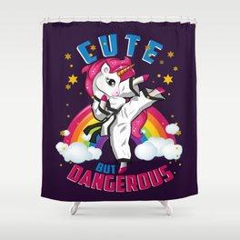 Unicorn Girl's Martial Arts, Kids Karate, Taekwondo, Jiu Jitsu, Kick Boxing, Children Shower Curtain