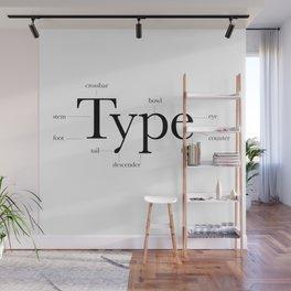 Anatomy of Type Wall Mural
