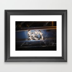 Chick Fight Framed Art Print