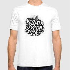 Negativity Comes So Easy Mens Fitted Tee SMALL White