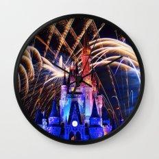 Walt Disney World Christmas Eve Fireworks Wall Clock