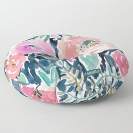 GARDENS OF CAPITOLA Watercolor Floral Floor Pillow