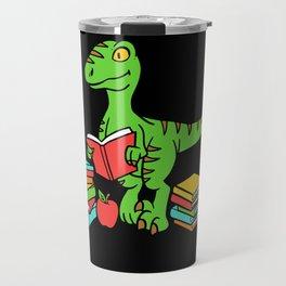 Velocireader Dinosaurs School School Books Motif Travel Mug