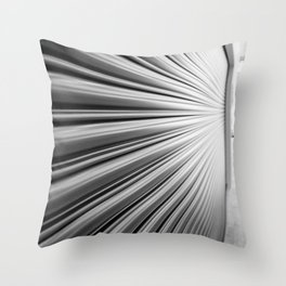 Vanishing Point | Abstract Black and White Throw Pillow