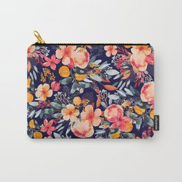 Navy Floral Carry-All Pouch