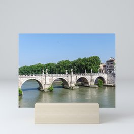 Ponte Sant'Angelo in Rome - Italy Mini Art Print