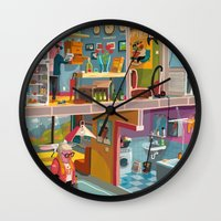 budapest Wall Clocks featuring Greetings from Budapest by Zsolt Vidak