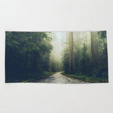 Redwood Forest Adventure Beach Towel