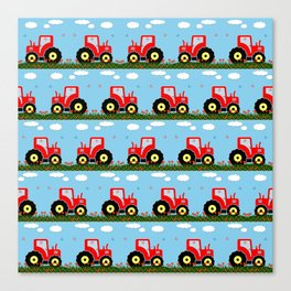 Toy tractor pattern Canvas Print
