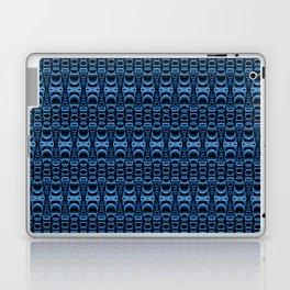 Dividers 07 in Blue over Black Laptop & iPad Skin