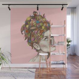 Hair Garden // twiggy with the cool hair Wall Mural