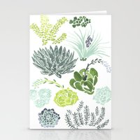 succulents Stationery Cards featuring Succulents  by Rae Ritchie