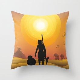 Walking in the desert Throw Pillow