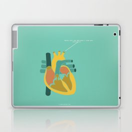 Aorta Tell You How Much I Love You Laptop & iPad Skin