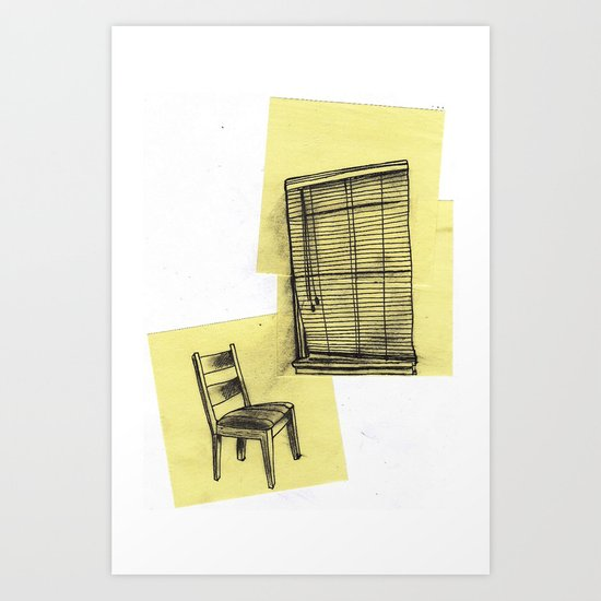 invisible man looking out of the window Art Print