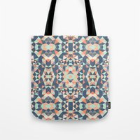 southwest Tote Bags featuring Southwest Tribal by Beth Thompson