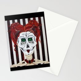 Day of the Dead Music Teacher Stationery Cards