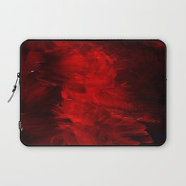 Red Abstract Paint Laptop Sleeve
