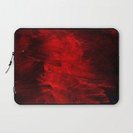 Red Abstract Paint   Corbin Henry Artist Laptop Sleeve